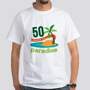50th Anniversary paradise White T-Shirt