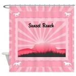 Personalized Western Shower Curtain
