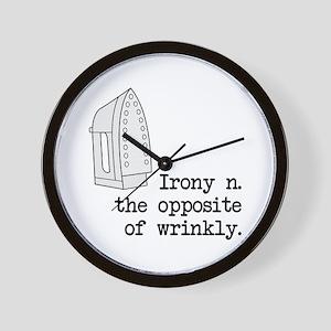 Irony Wall Clock