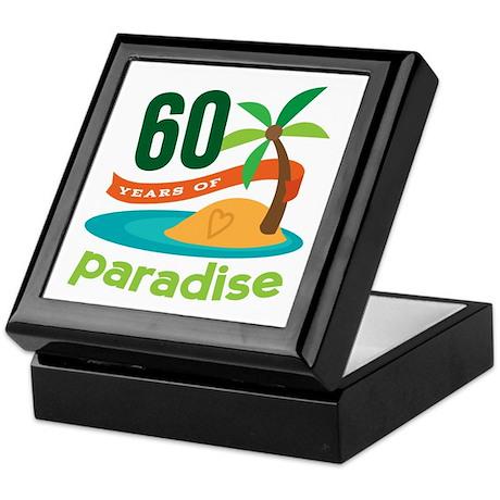 60th Anniversary paradise Keepsake Box