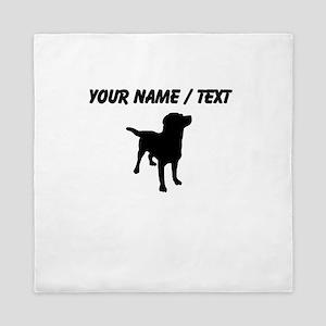 Custom Dog Silhouette Queen Duvet