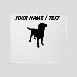 Custom Dog Silhouette Throw Blanket