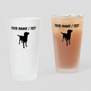Custom Dog Silhouette Drinking Glass