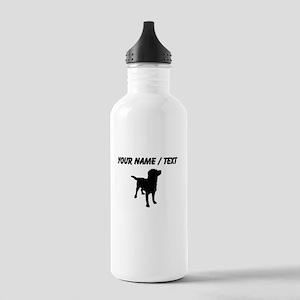 Custom Dog Silhouette Sports Water Bottle