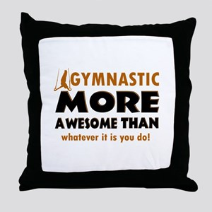 Awesome Gymnastics Designs Throw Pillow