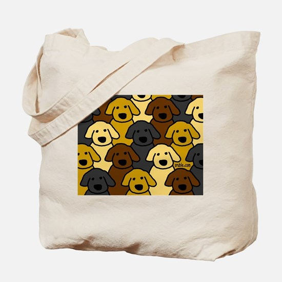 Dogs Marching Tote Bag