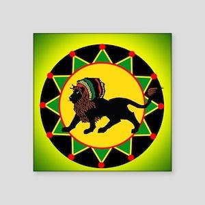 Jah King Rasta Lion Sticker