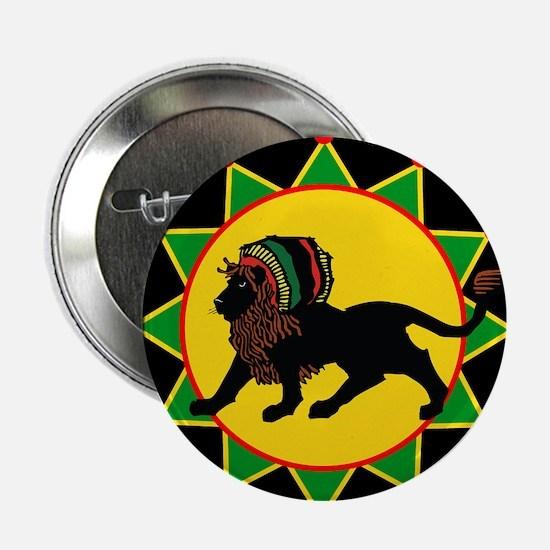 "Jah King Rasta Lion 2.25"" Button"