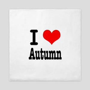 I Heart Love Autumn Queen Duvet