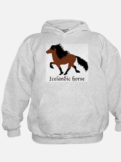 Men's With Bay Icelandic Horse Sweatshirt