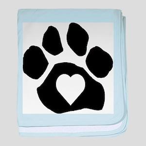 Heart In Paw baby blanket