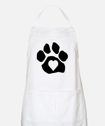 Heart In Paw Apron