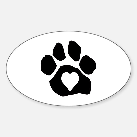 Heart In Paw Decal