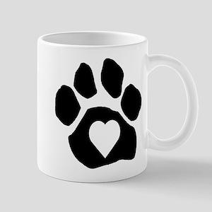 Heart In Paw Mug