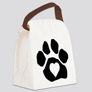 Heart In Paw Canvas Lunch Bag