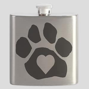 Heart In Paw Flask