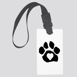 Heart In Paw Luggage Tag