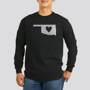 Heart Oklahoma Long Sleeve Dark T-Shirt