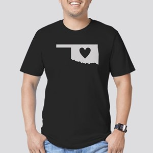 Heart Oklahoma Men's Fitted T-Shirt (dark)