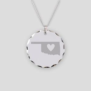 Heart Oklahoma Necklace Circle Charm