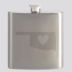 Heart Oklahoma Flask