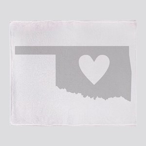 Heart Oklahoma Throw Blanket