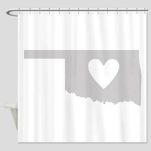 Heart Oklahoma Shower Curtain