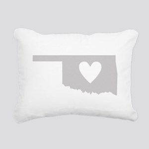 Heart Oklahoma Rectangular Canvas Pillow