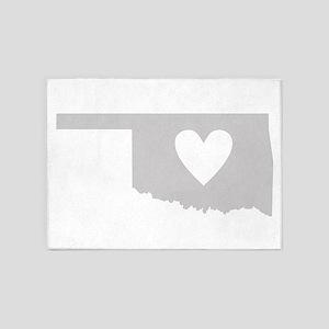 Heart Oklahoma 5'x7'Area Rug