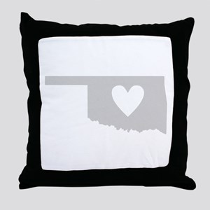 Heart Oklahoma Throw Pillow