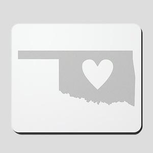 Heart Oklahoma Mousepad