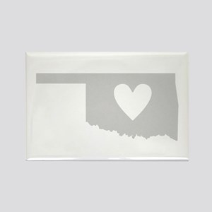 Heart Oklahoma Rectangle Magnet