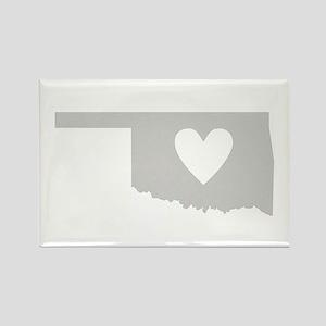 Heart Oklahoma Rectangle Magnet