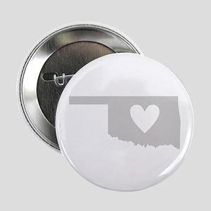 """Heart Oklahoma 2.25"""" Button"""