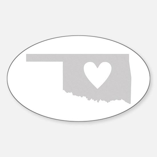 Heart Oklahoma Sticker (Oval)