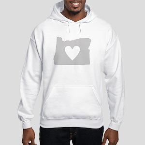 Heart Oregon Hooded Sweatshirt