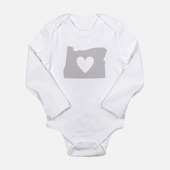 Heart Oregon Long Sleeve Infant Bodysuit