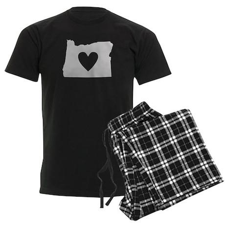 Heart Oregon Men's Dark Pajamas