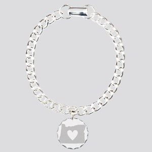 Heart Oregon Charm Bracelet, One Charm