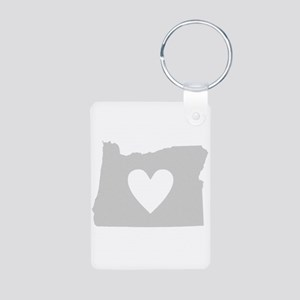 Heart Oregon Aluminum Photo Keychain