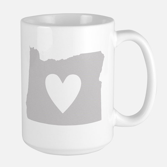 Heart Oregon Large Mug