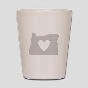 Heart Oregon Shot Glass