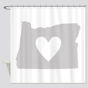 Heart Oregon Shower Curtain