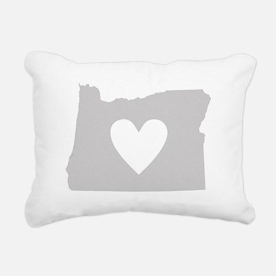 Heart Oregon Rectangular Canvas Pillow