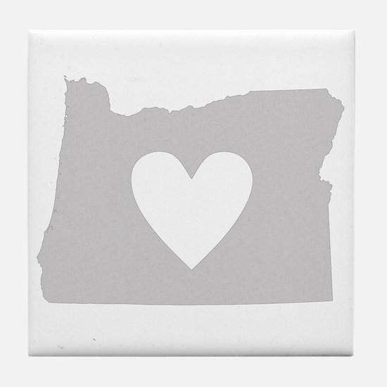 Heart Oregon Tile Coaster