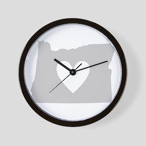 Heart Oregon Wall Clock