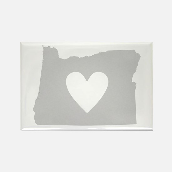 Heart Oregon Rectangle Magnet