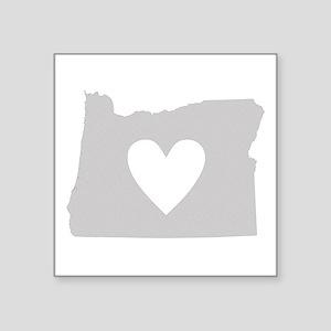 """Heart Oregon Square Sticker 3"""" x 3"""""""