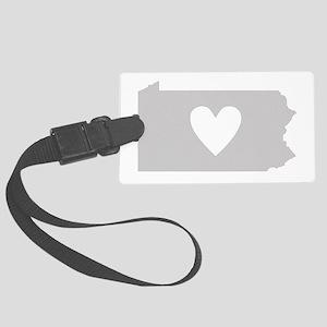 Heart Pennsylvania Large Luggage Tag