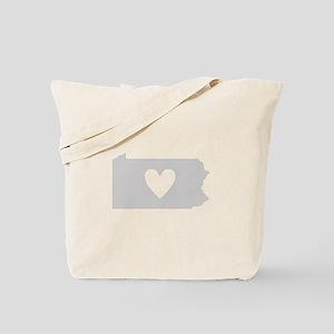Heart Pennsylvania Tote Bag